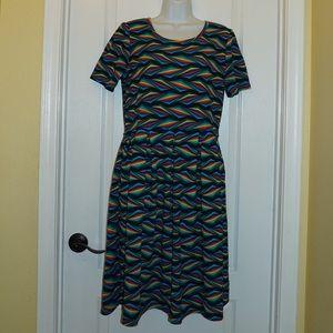 LulaRoe Amelia Dress Geometric Print Size XL